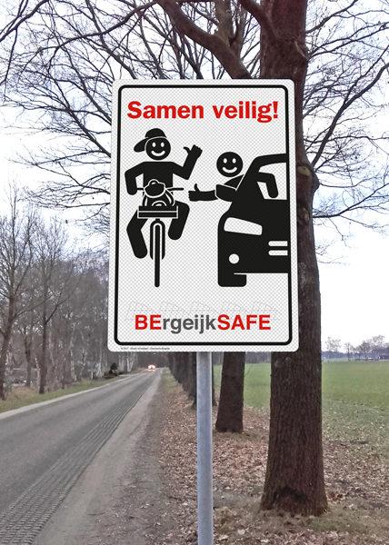 Verkeersbord gemeente Bergeijk